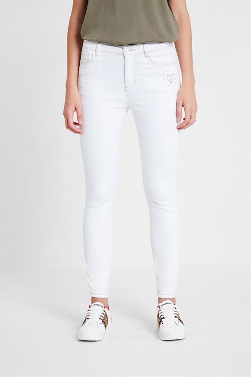 jeansy Desigual Kasandra blanco