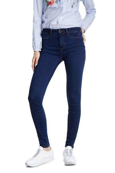 jeansy Desigual Twoskin denim dark blue