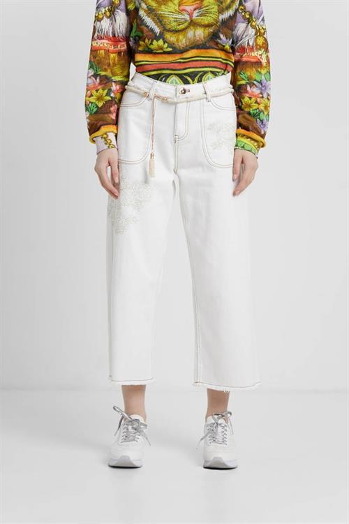 džínsy Desigual Mikive blanco