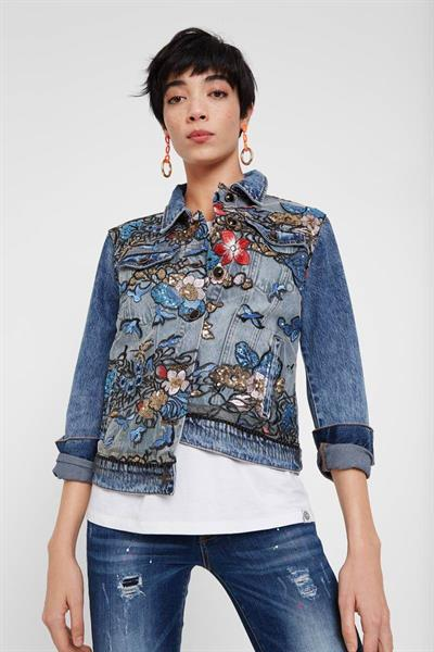 bunda Desigual Brookly denim medium wash