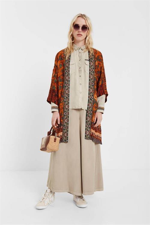 kimono Desigual Sabana ocre