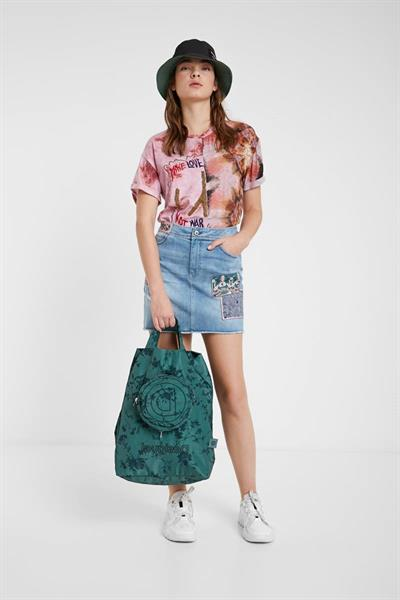 sukňa Desigual Patty denim medium wash