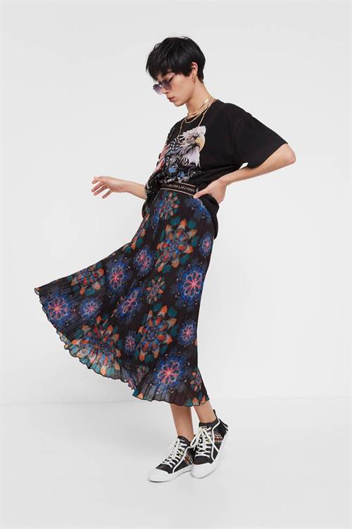 sukně Desigual Delos negro