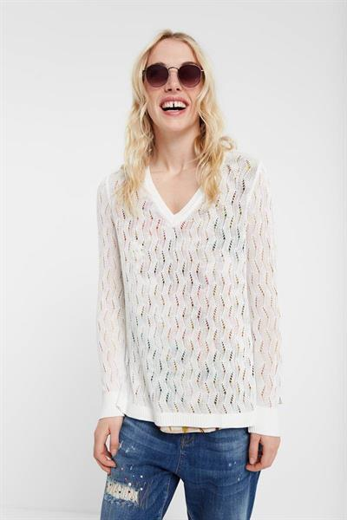 sveter Desigual Ram blanco