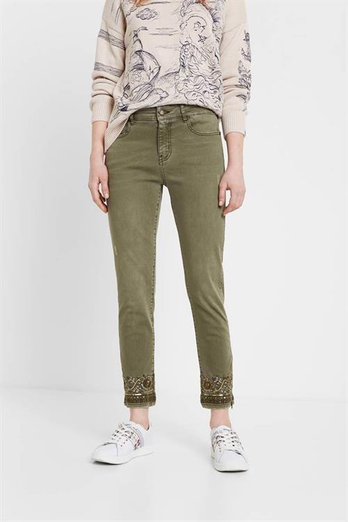 jeansy Desigual Oneil verde militar