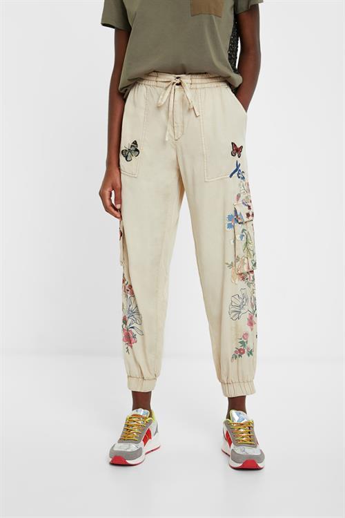 kalhoty Desigual Davinia camel
