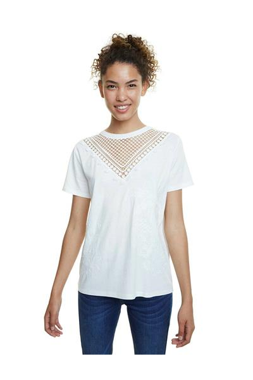 tričko Desigual Tropic Thoughts blanco