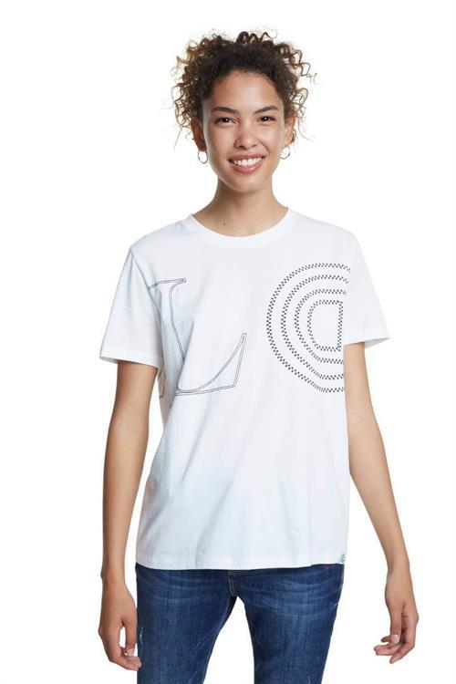 tričko Desigual Paris blanco
