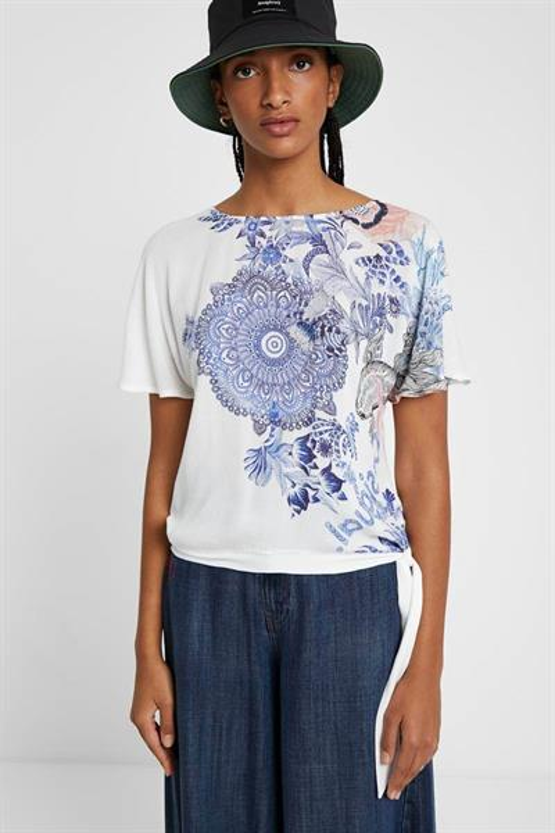 tričko Desigual Bruselas blanco
