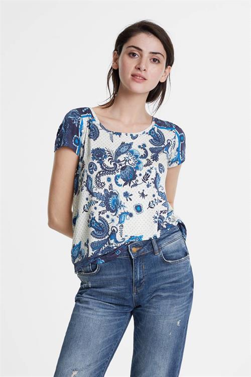 tričko Desigual Melian azul dali