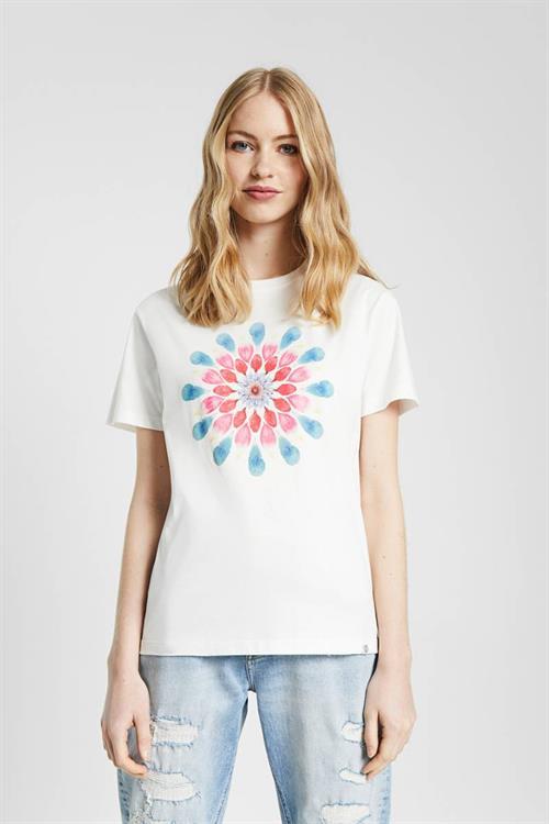 tričko Desigual Milan blanco