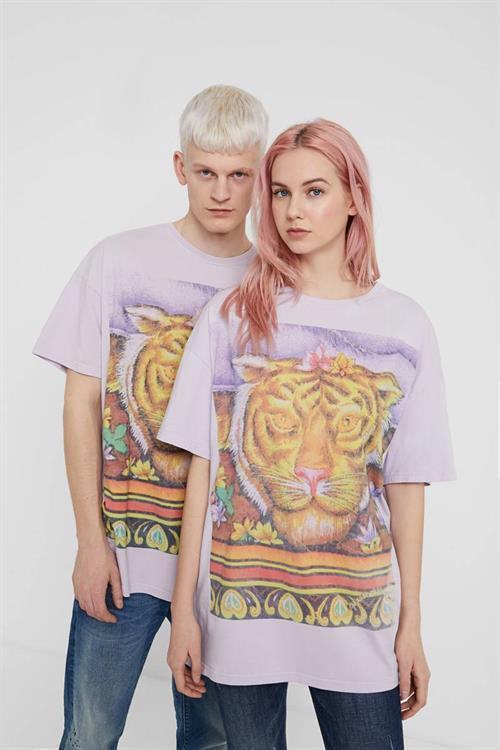 tričko Desigual Chackras turquesa