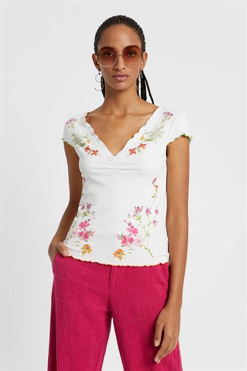 tričko Desigual Vilna blanco
