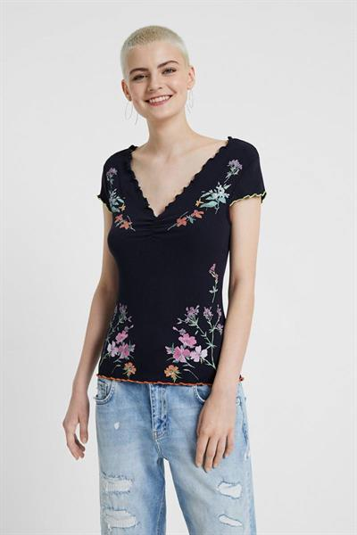 tričko Desigual Vilna navy