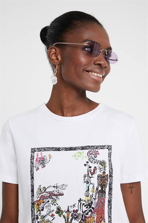 tričko Desigual Cleopatra blanco