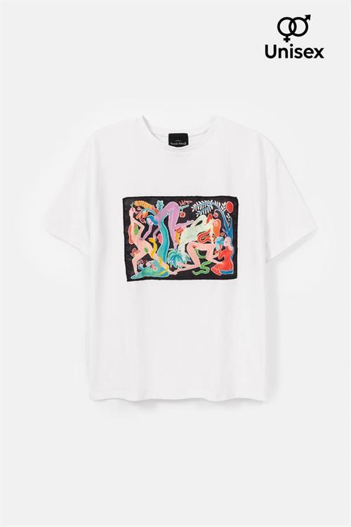 tričko Desigual TS RASSIL blanco