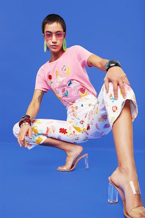 tričko Desigual TS RUBENS fandango pink