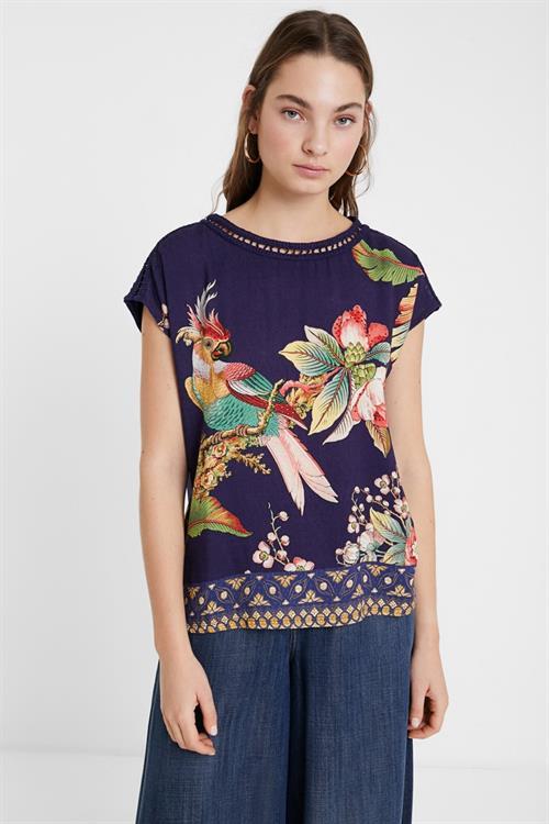 tričko Desigual Hanna marino