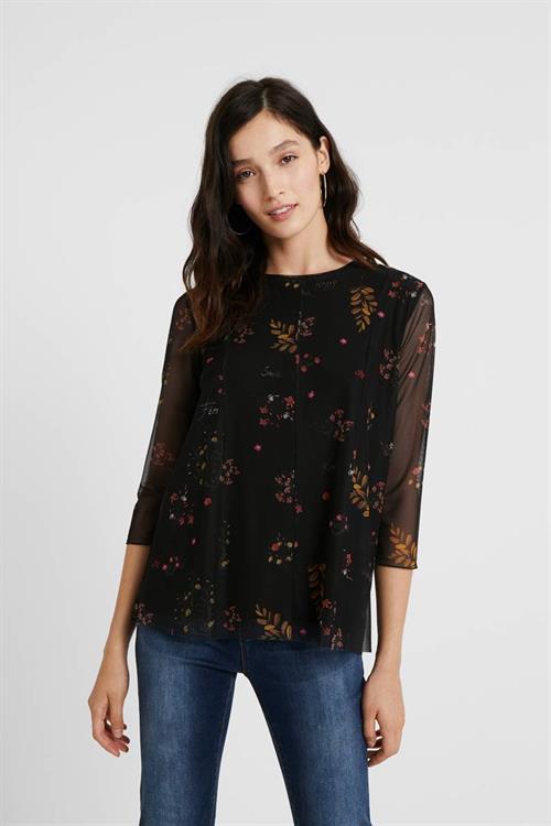 tričko Desigual Veronica negro