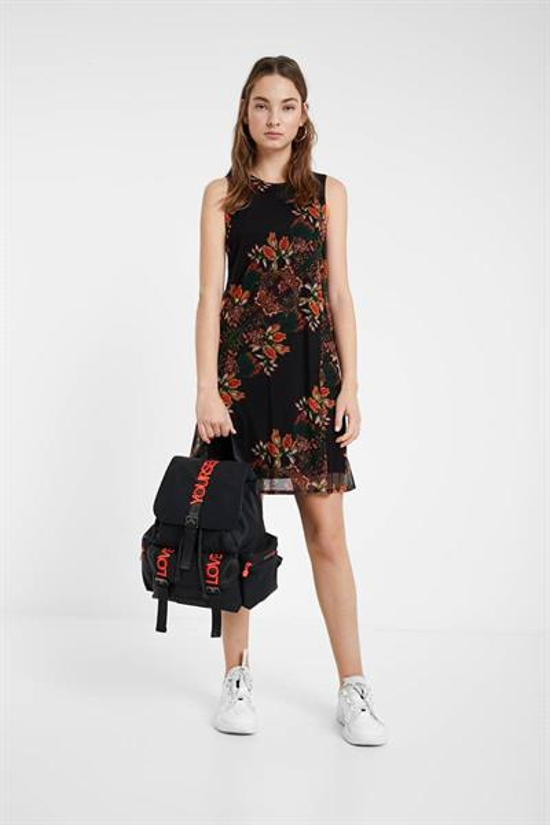 šaty Desigual Papillon negro