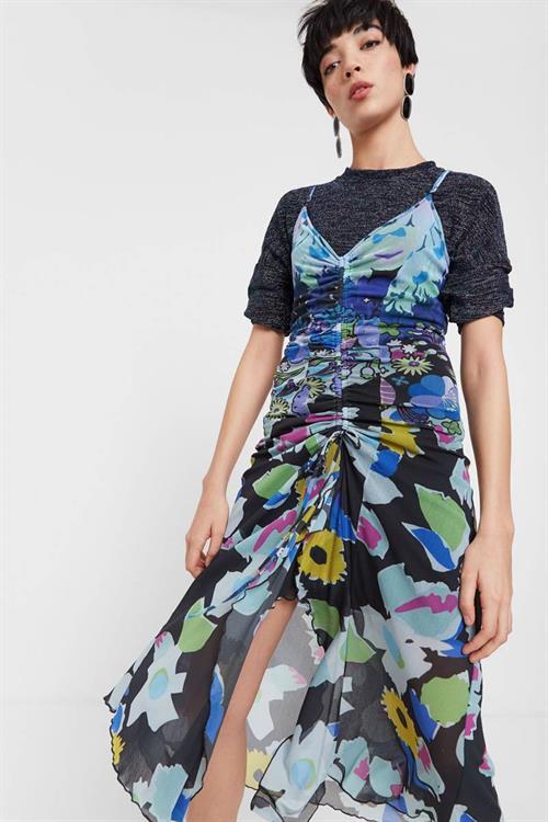 šaty Desigual Glow marino