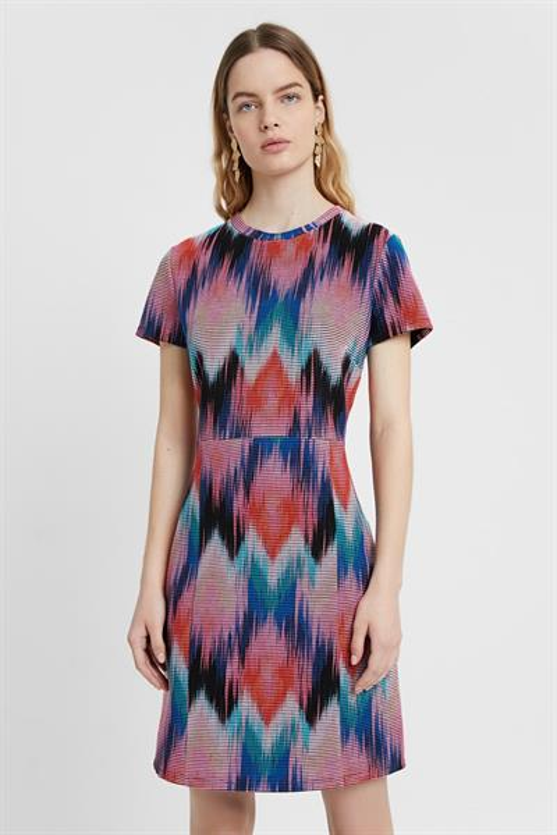 šaty Desigual Psicodel multicolor fucsia