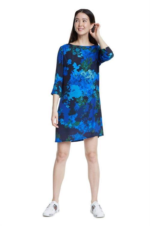 šaty Desigual Tennessee azul agata