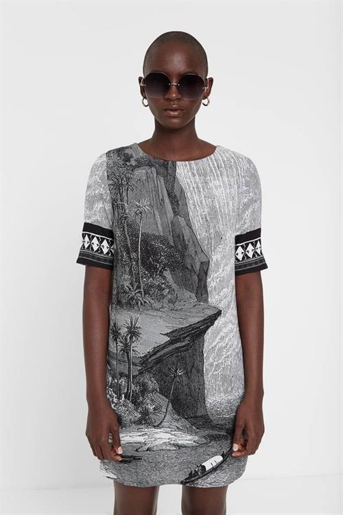 šaty Desigual Niagara negro
