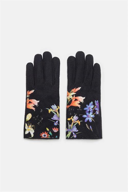 rukavice Desigual Flowerish negro