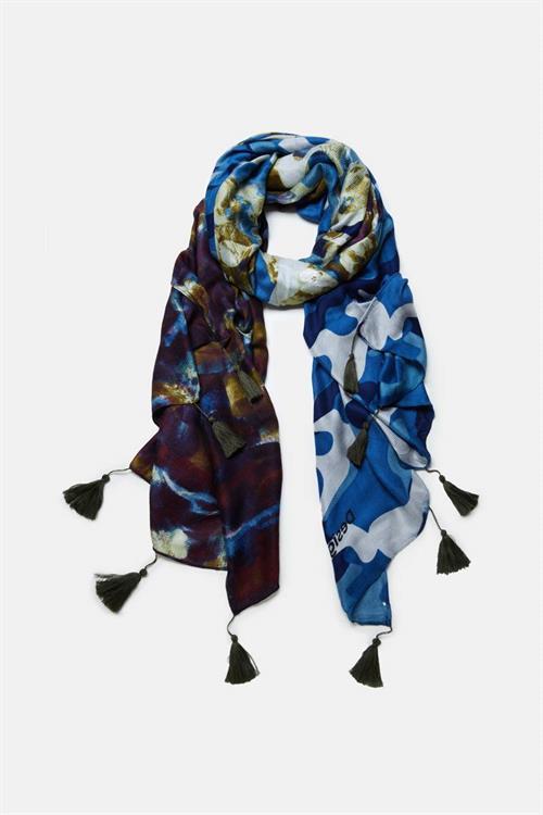 šátek Desigual Camu Camu navy