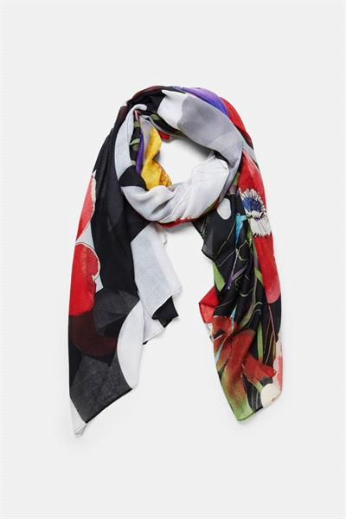 šátek Desigual Heritage jet black