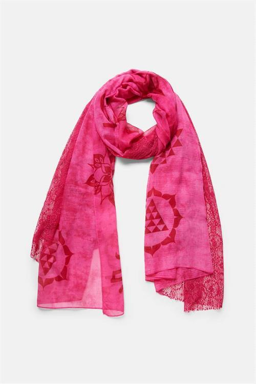 šátek Desigual Mistery quartz pink