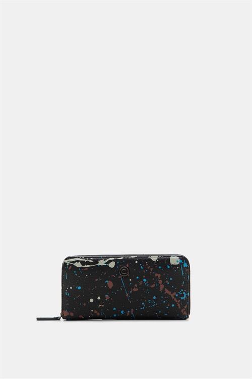peněženka Desigual Sky Splatting Zip Ar negro