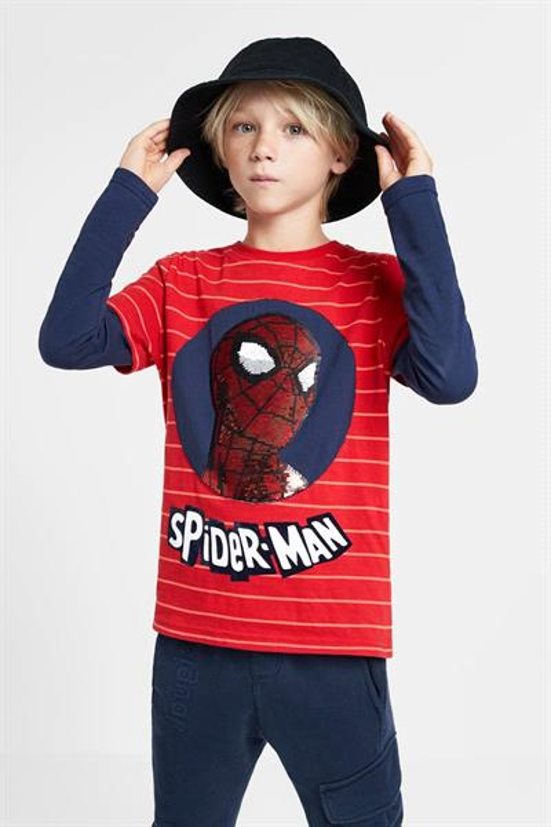 tričko Desigual Spider rojo