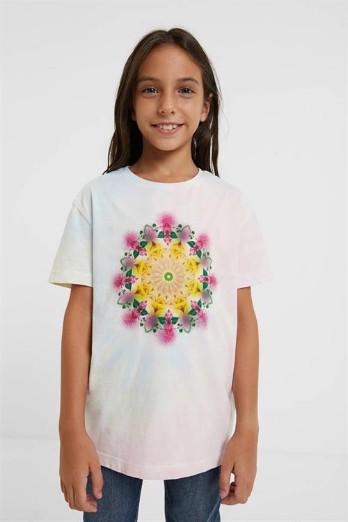 tričko Desigual Bumm blanco