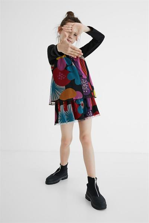 tričko Desigual Kids tops negro