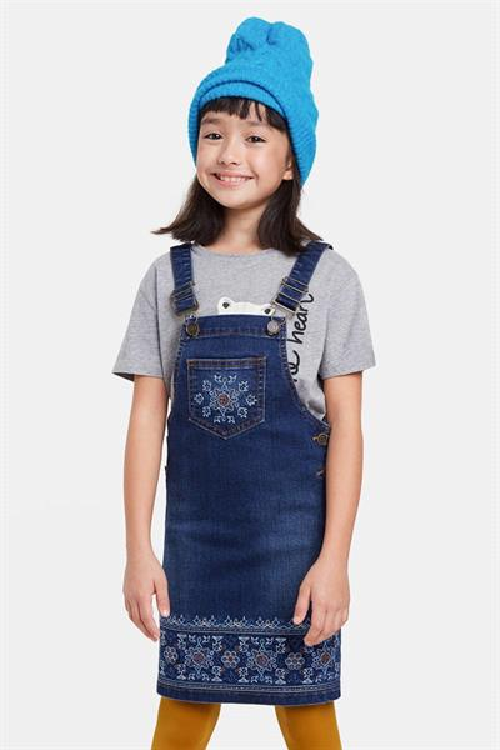 šaty Desigual Durango denim dark blue