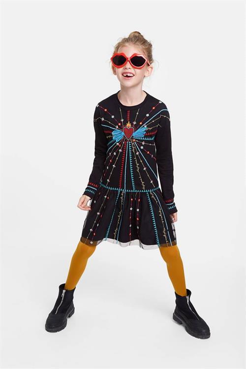 šaty Desigual Ojodeagua negro