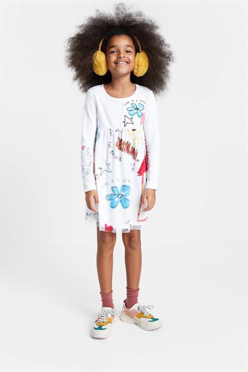 šaty Desigual Zamora blanco