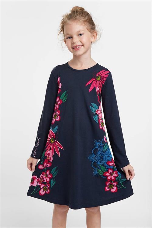 šaty Desigual Wildflower navy