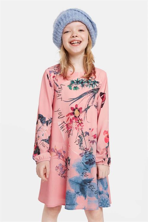 šaty Desigual Piedrasnegra rose skin