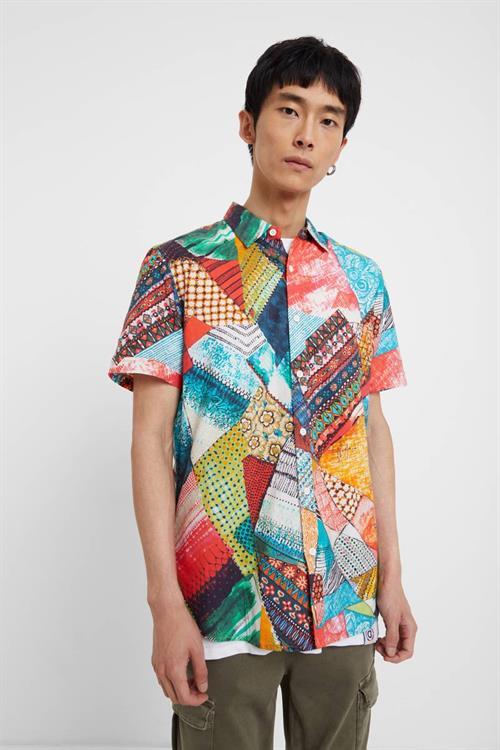 košile Desigual Simon multicolor azul