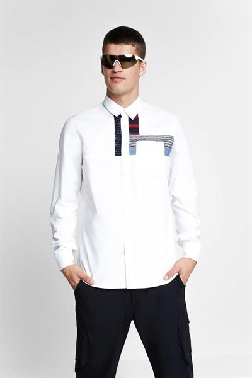 košile Desigual Leon blanco