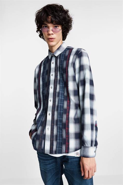 košile Desigual Lucas blanco