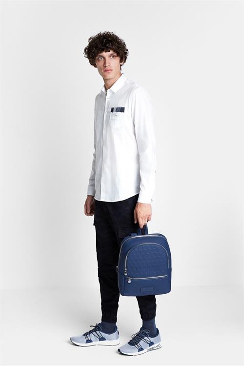 košile Desigual Luis blanco