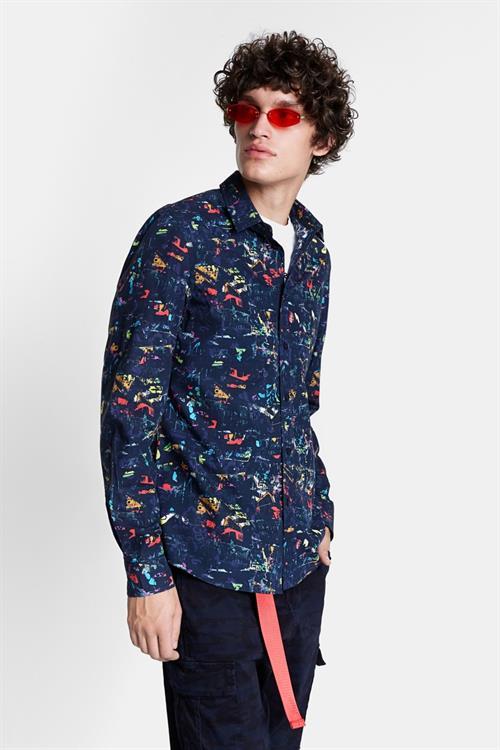 košile Desigual Roque navy
