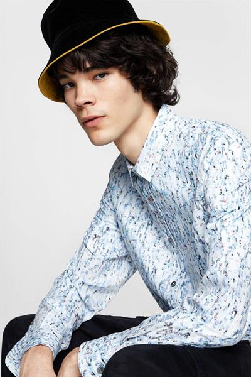 košile Desigual Uriel blue ice