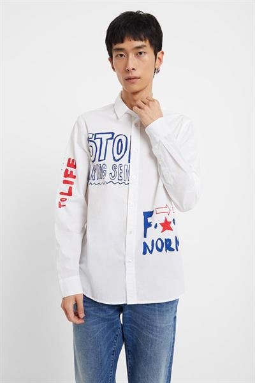 košile Desigual King blanco