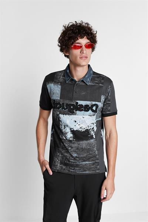 tričko Desigual Rei marino