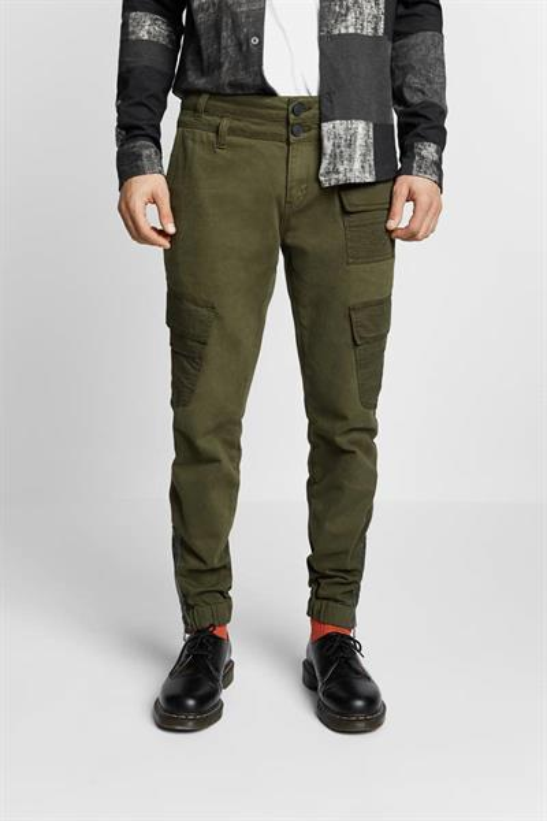 kalhoty Desigual Albert verde caza